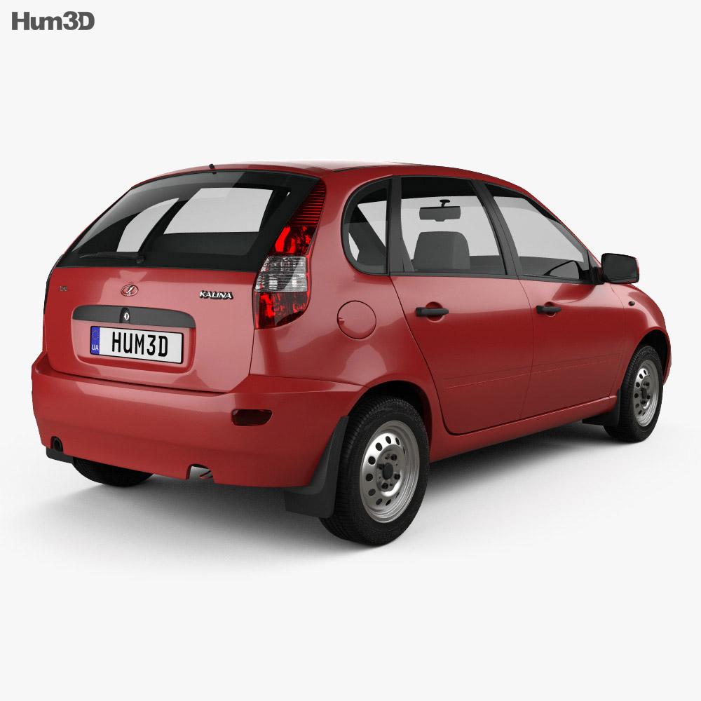 Lada Kalina (1119) hatchback 2011 3d model