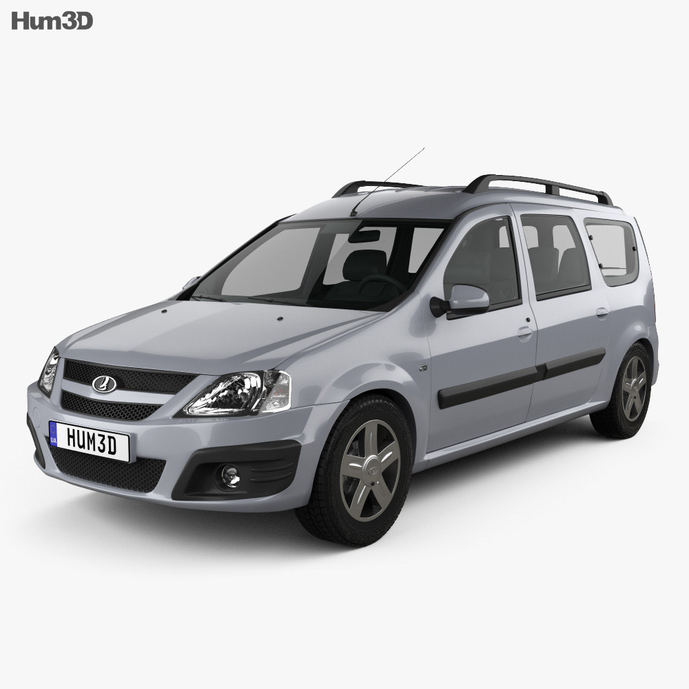Lada Largus 2012 3d model