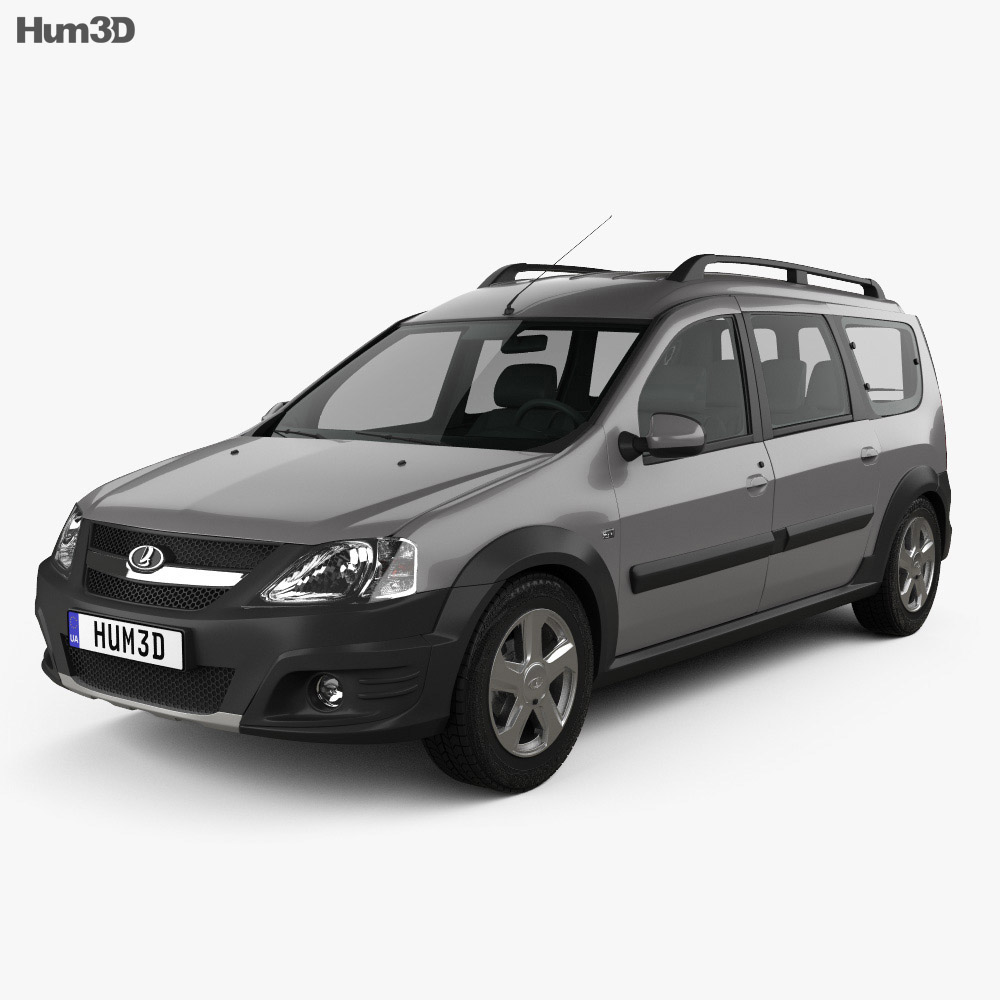 Lada Largus 2014 3d model