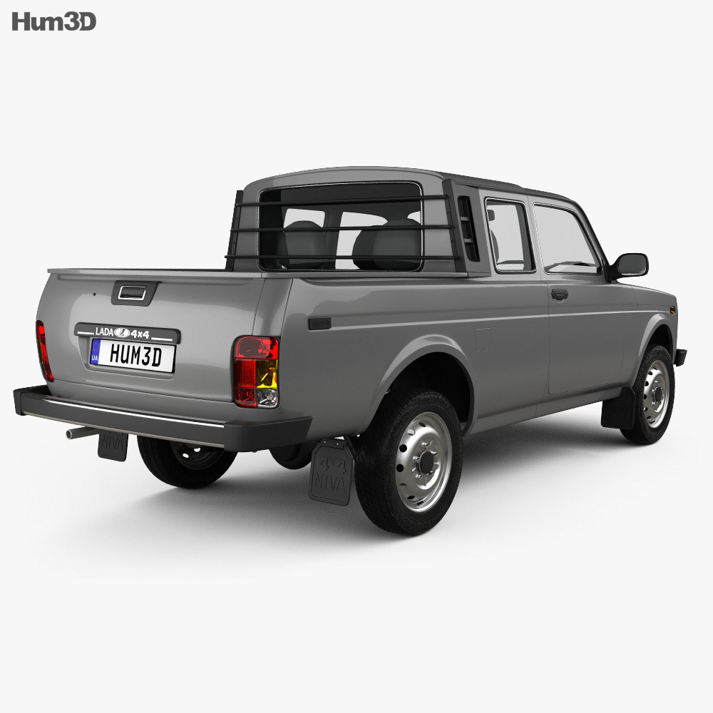 VAZ Lada Niva 4×4 2329 Pickup 2015 3d model