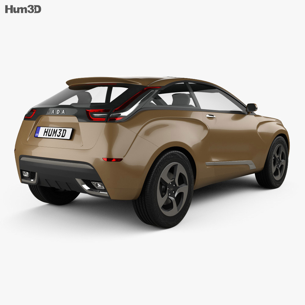 Lada XRAY 2012 概念 3Dモデル 後ろ姿
