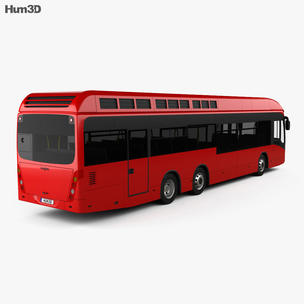 Van Hool A330 Hydrogen Fuel Cell Bus 2012 3d model
