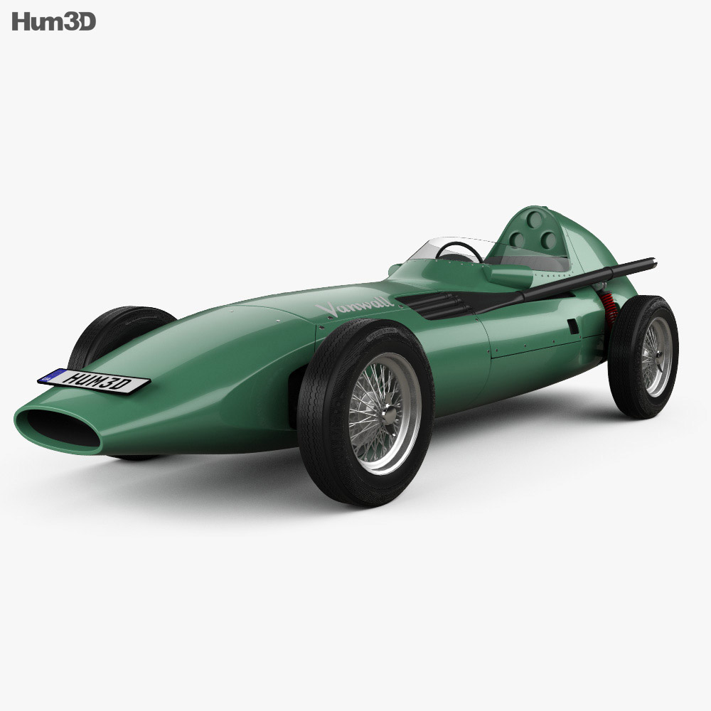 Vanwall VW 57 1957 3d model