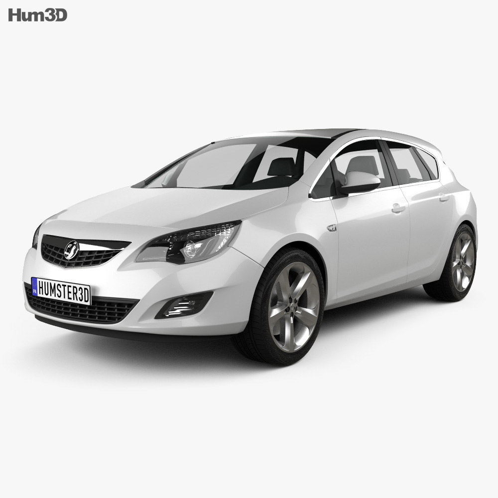 Vauxhall Astra Hatchback 5-door 2011 3d model