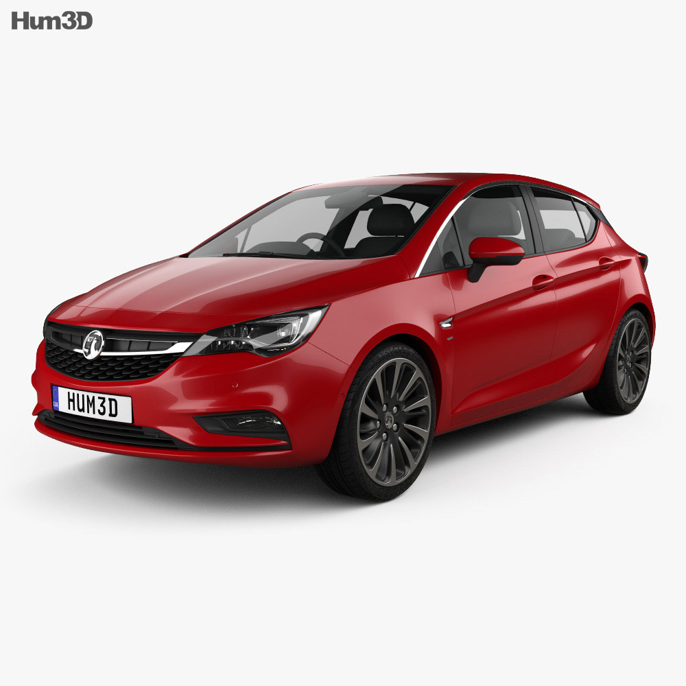 Vauxhall Astra Turbo hatchback 2016 3d model
