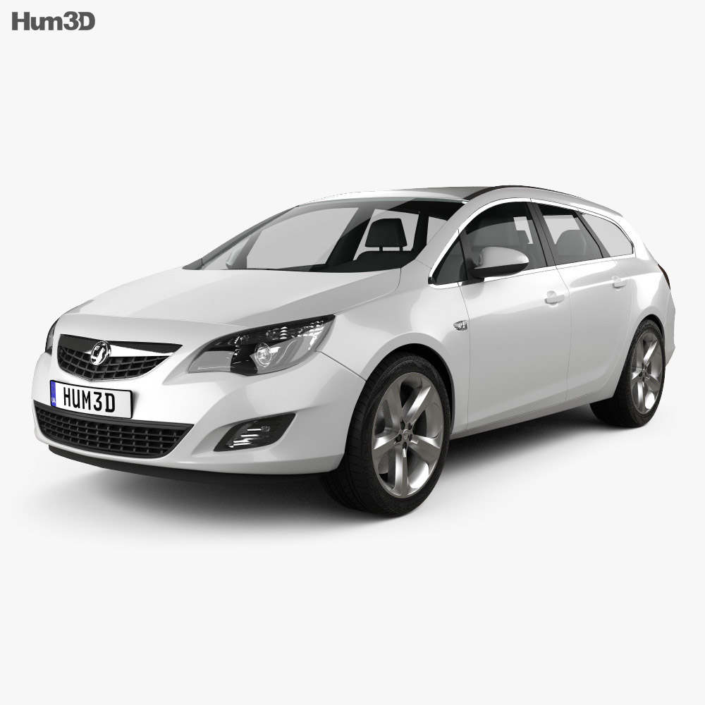 3D model of Vauxhall Astra Sports Tourer 2011