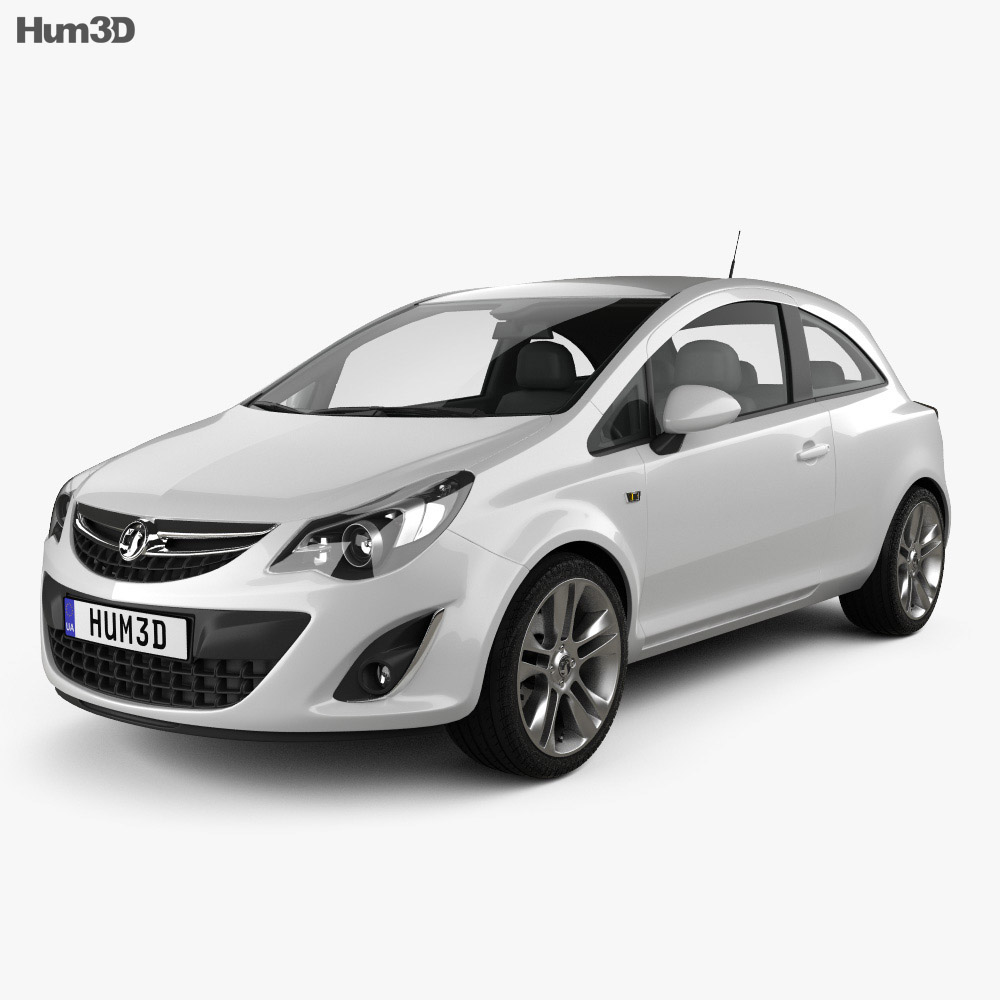 Vauxhall Corsa 3-door 2011 3d model