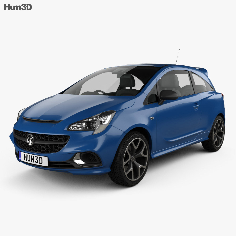 Vauxhall Corsa (E) VXR 3-door hatchback 2015 3d model