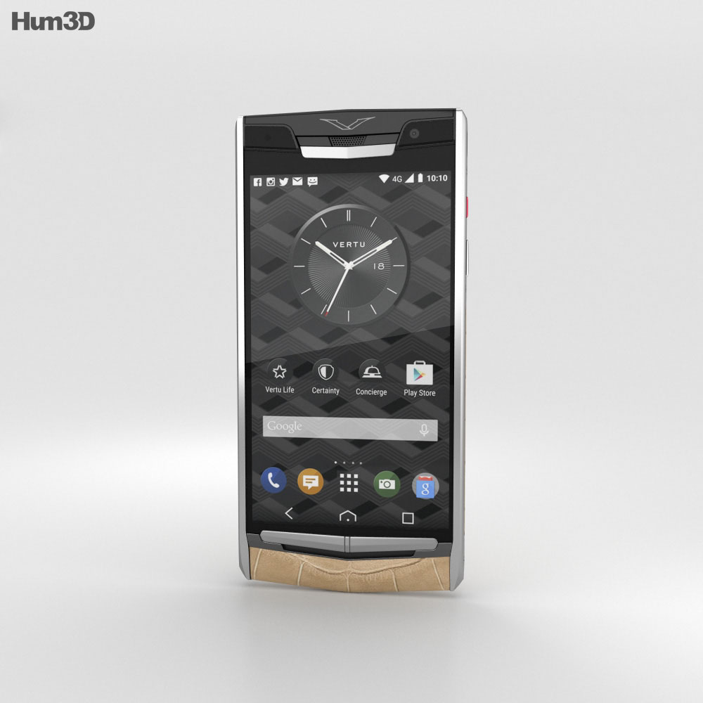 Vertu Signature Touch (2015) Almond Alligator 3d model