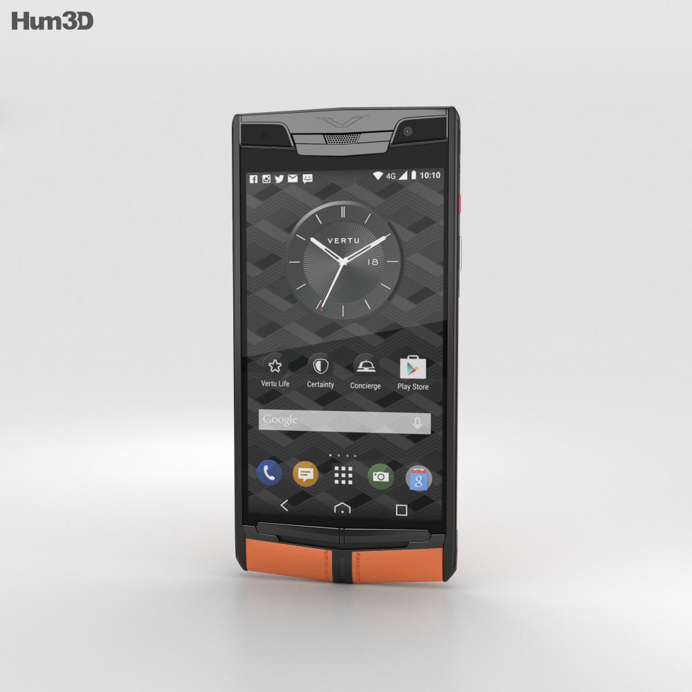 Vertu Signature Touch (2015) Carbon Sport 3d model