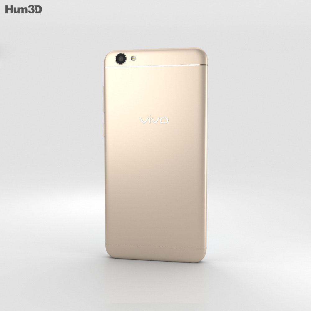 Vivo V5 Gold 3d model