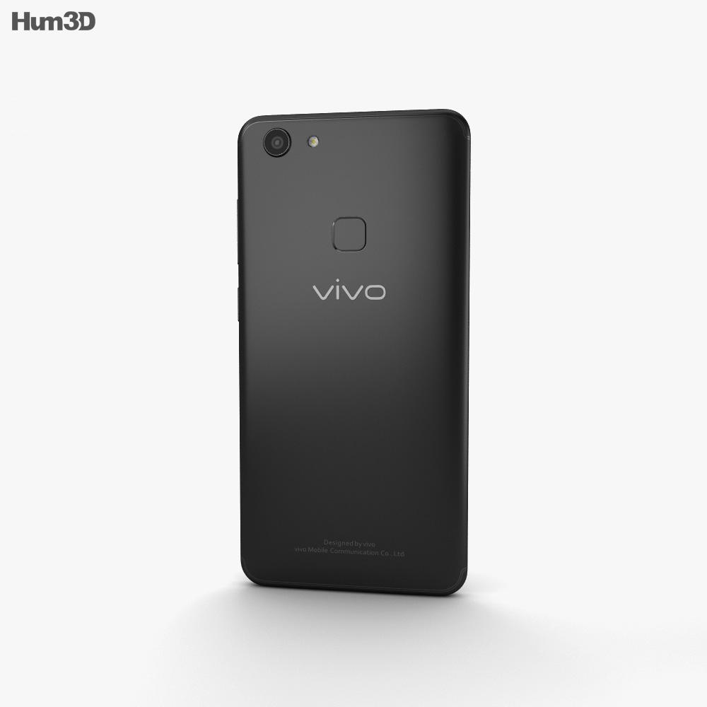 Vivo V7 Matte Black 3d model