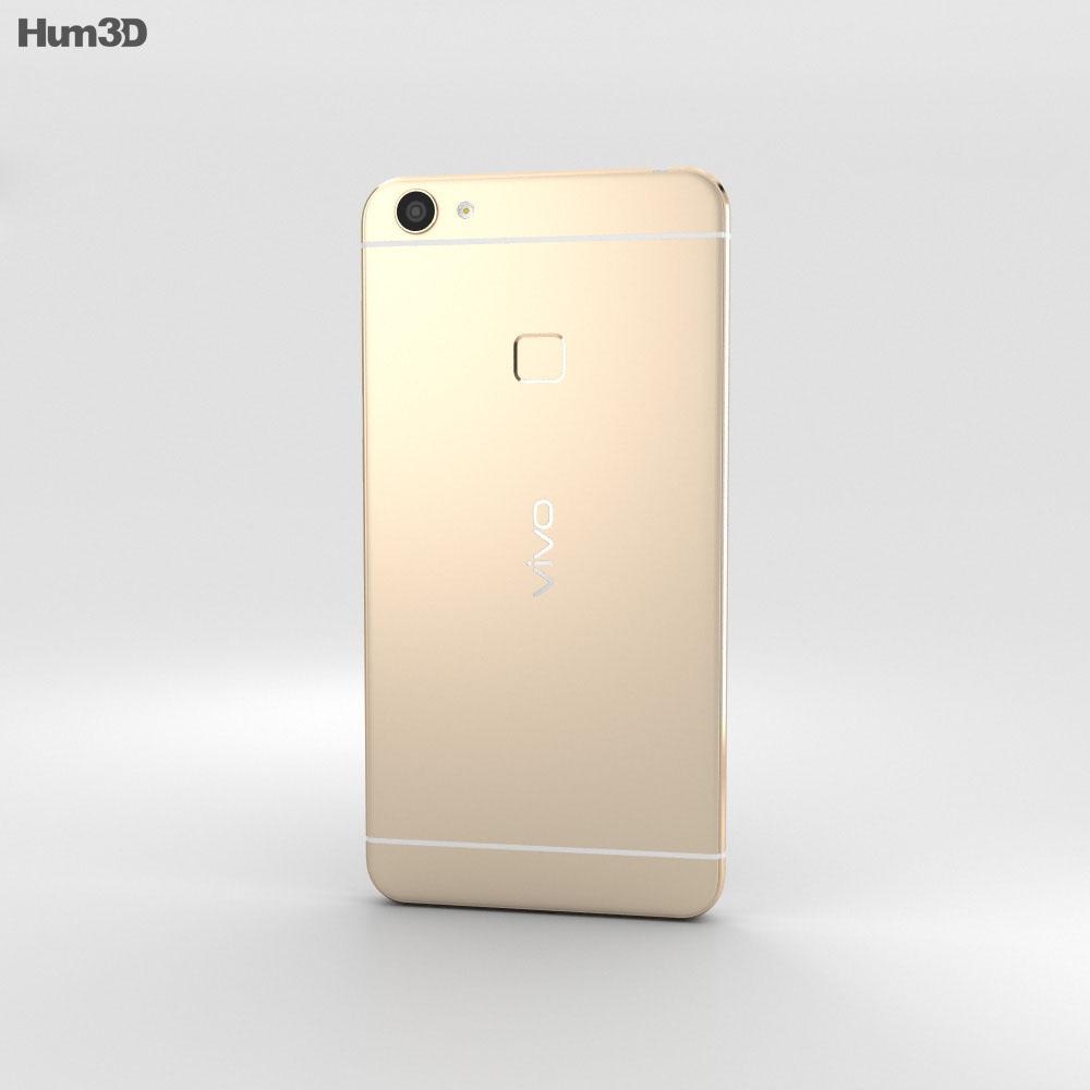 Vivo X6 Gold 3d model