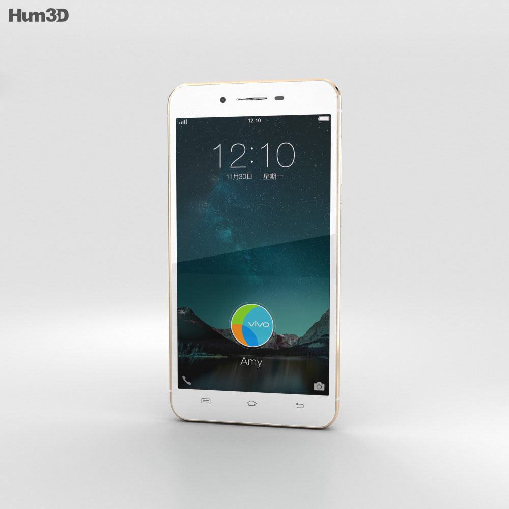 Vivo X6 Plus Gold 3d model