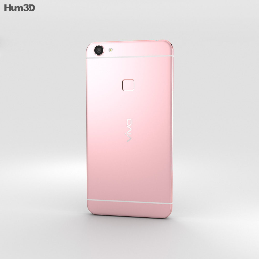 Vivo X6 Rose Gold 3d model