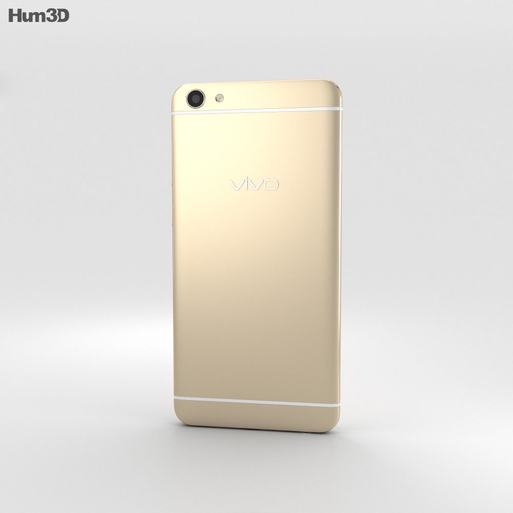 Vivo X7 Plus Gold 3d model