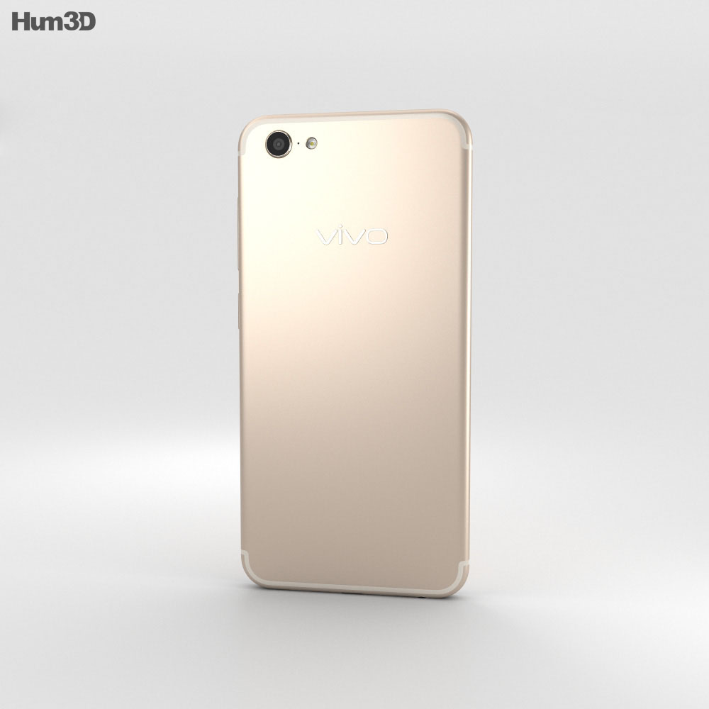 Vivo X9 Plus Gold 3d model