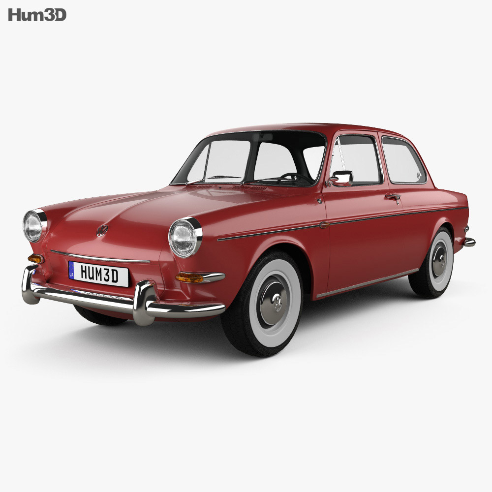 Volkswagen 1500 Type 3 Notchback 1961 3d Model Vehicles On Hum3d