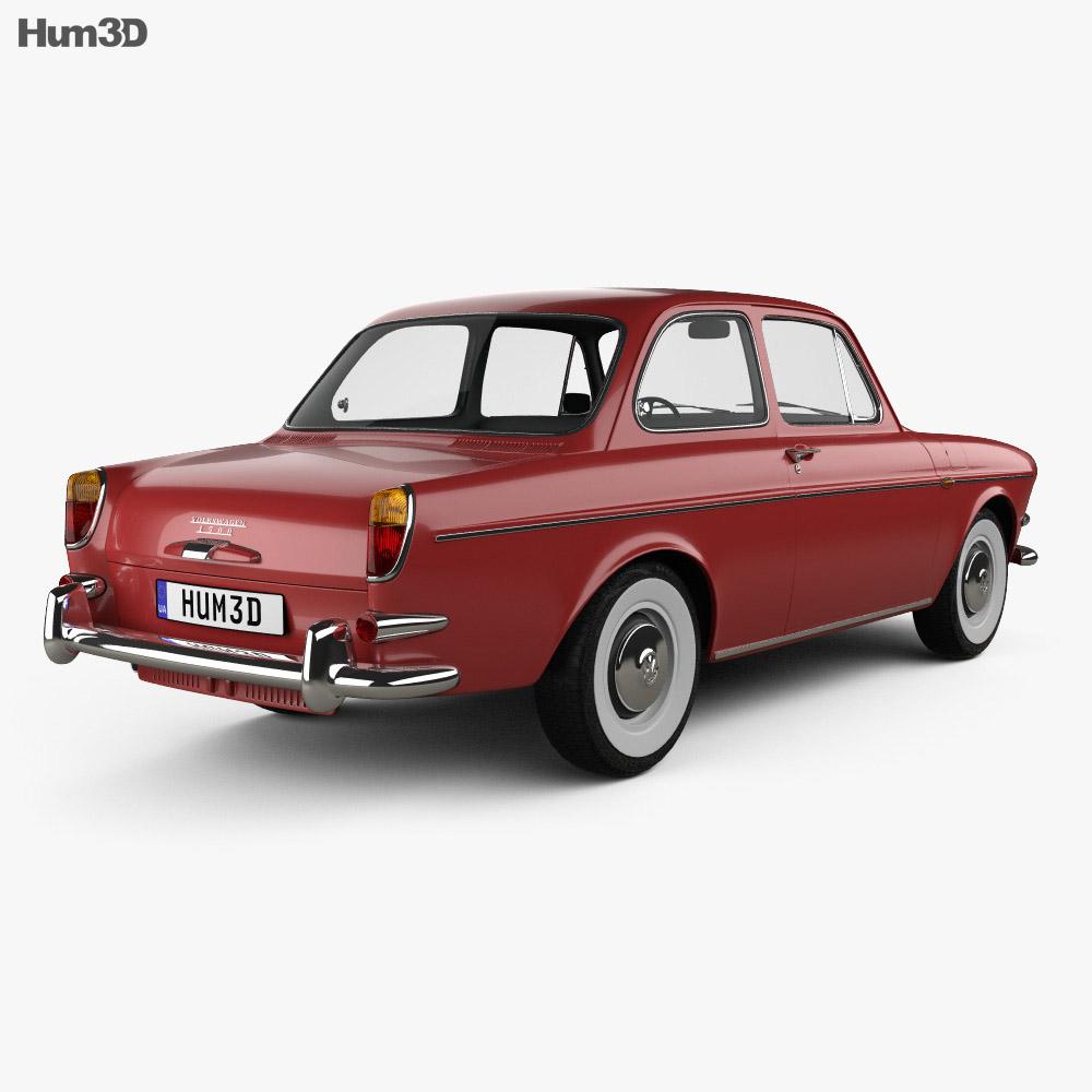 Volkswagen 1500 (Type 3) notchback 1961 3d model back view