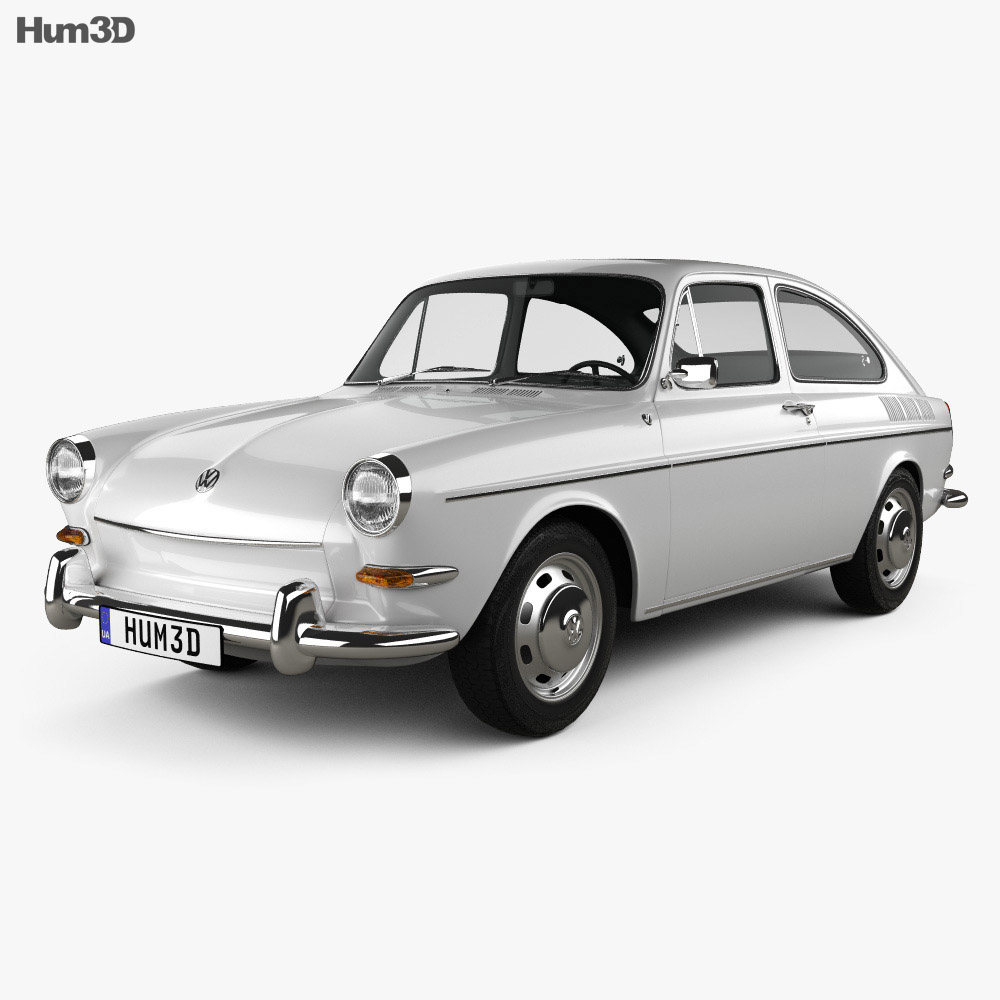 Volkswagen Type 3 (1600) fastback 1965 3d model