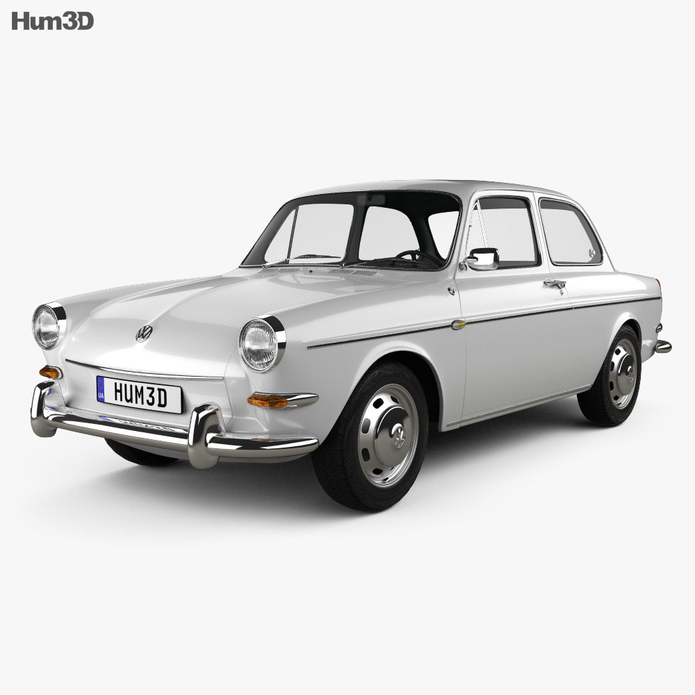 Volkswagen Type 3 1600 Sedan 1965 3d Model Vehicles On Hum3d