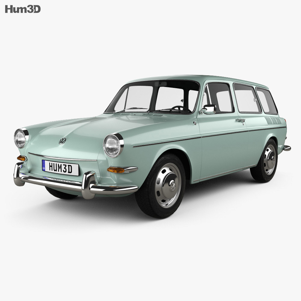 Volkswagen Type 3 (1600) variant 1965 3d model