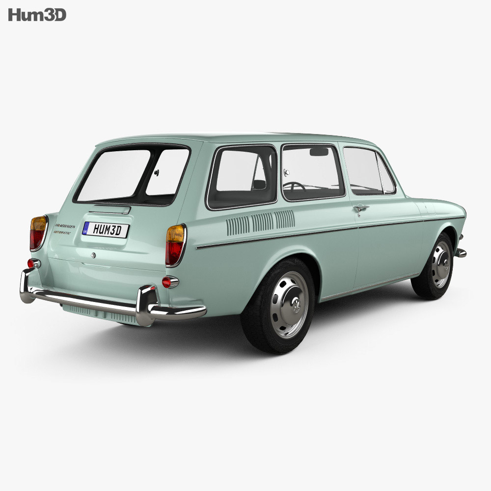 Volkswagen Type 3 1600 Variant 1965 3d Model Vehicles On Hum3d