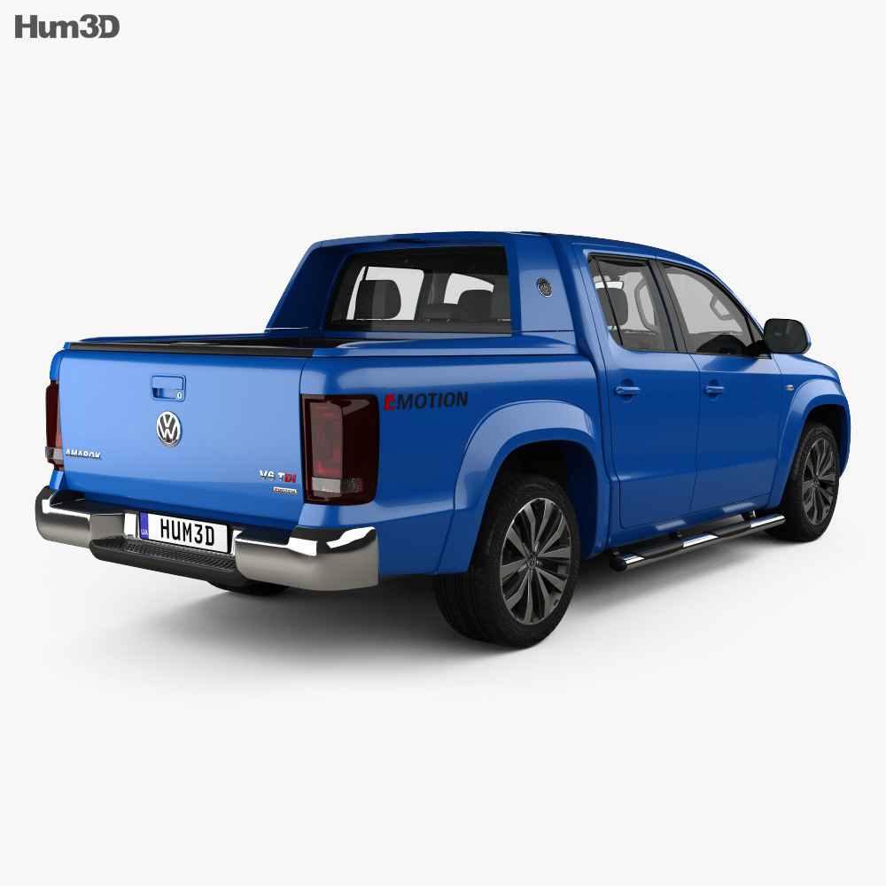 Volkswagen Amarok Crew Cab Aventura with HQ interior 2016 3d model