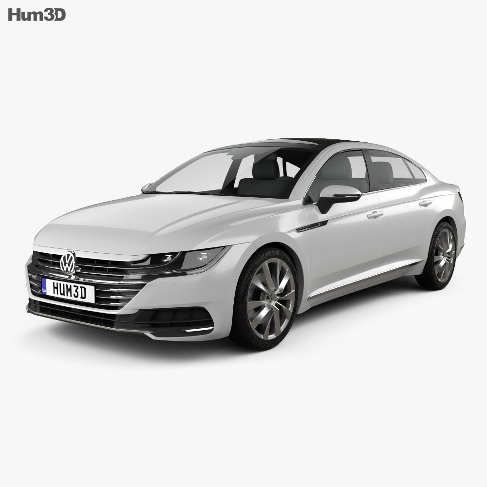 volkswagen arteon 2017 3d model hum3d. Black Bedroom Furniture Sets. Home Design Ideas