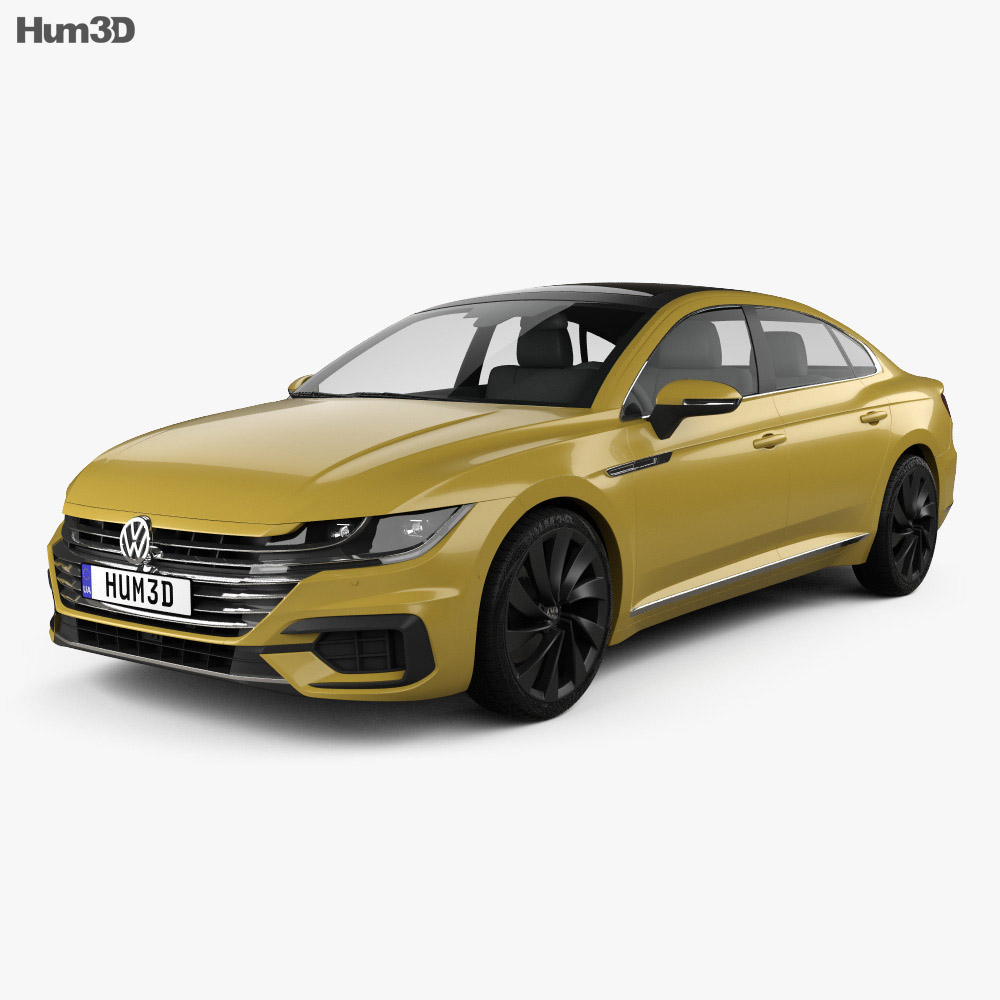 volkswagen arteon r line 2017 3d model hum3d. Black Bedroom Furniture Sets. Home Design Ideas