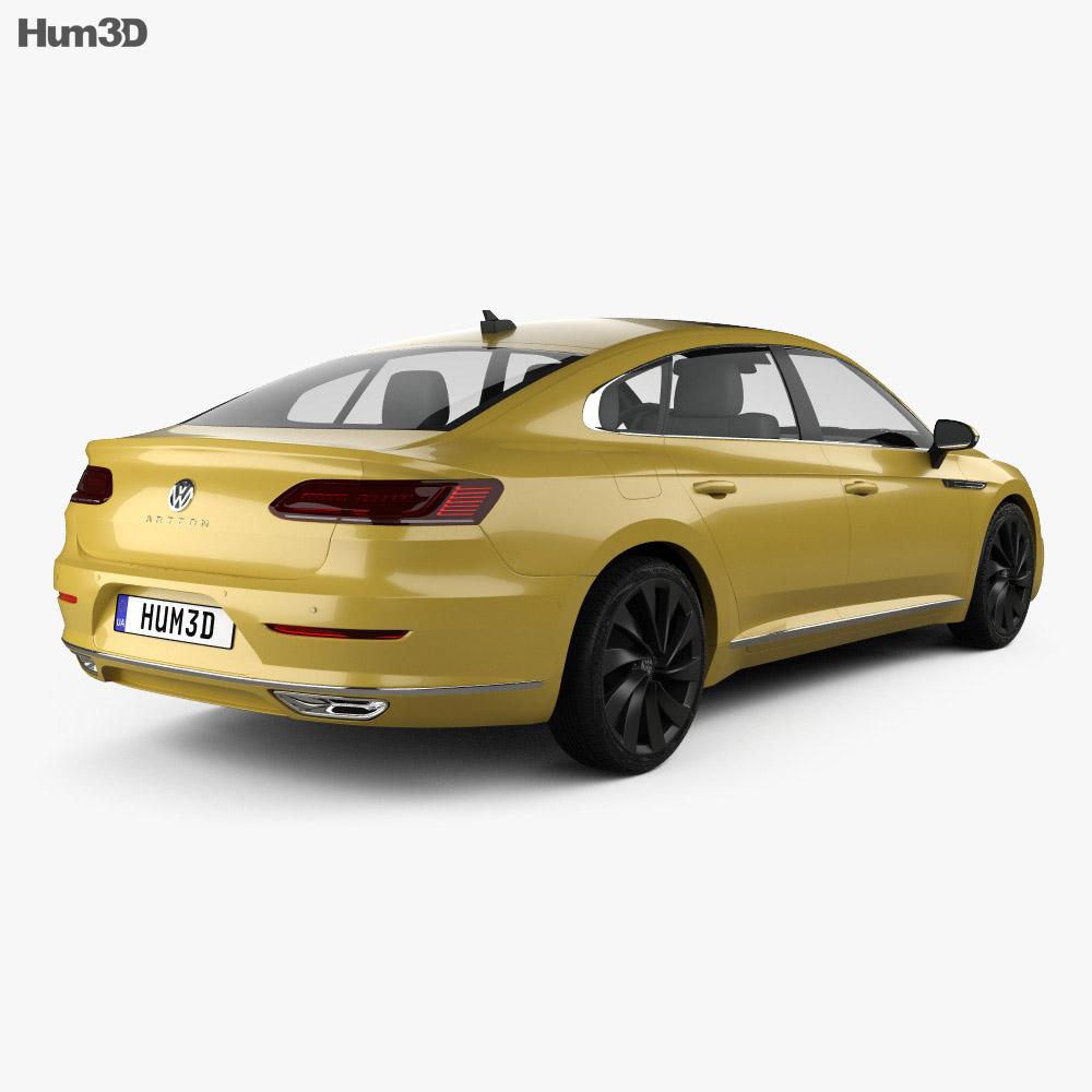 Volkswagen Arteon R-Line 2017 3d model back view