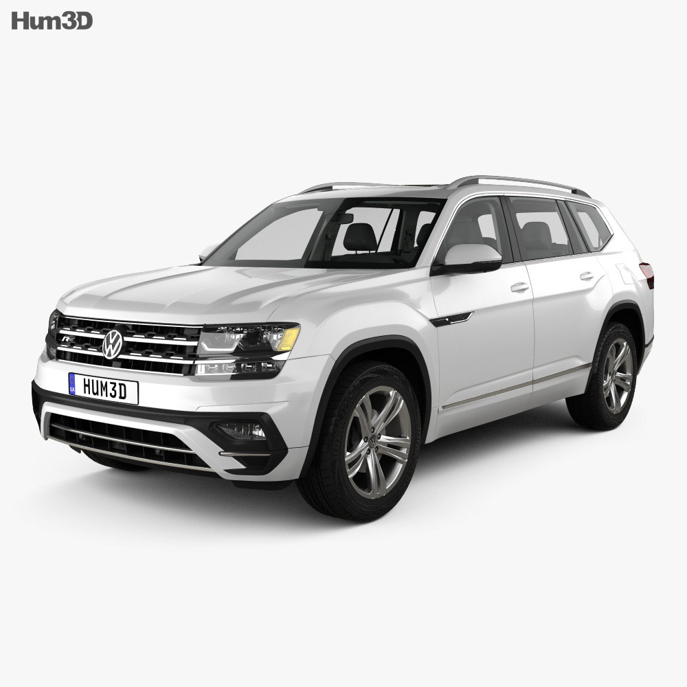 volkswagen atlas r line with hq interior 2017 3d model hum3d. Black Bedroom Furniture Sets. Home Design Ideas