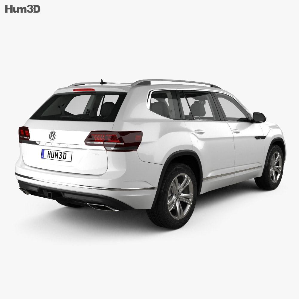 Volkswagen Atlas R Line with HQ interior 2017 3d model