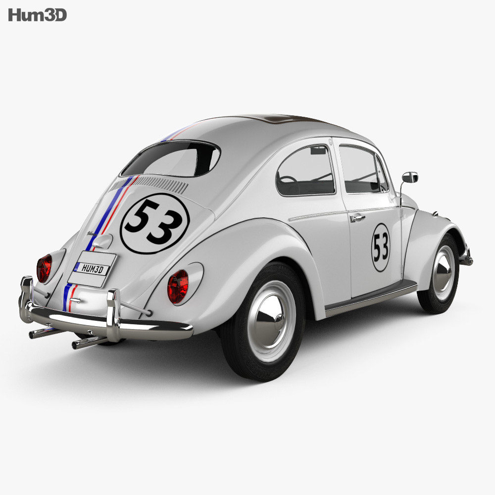 Volkswagen Beetle Herbie the Love Bug 1963 3d model
