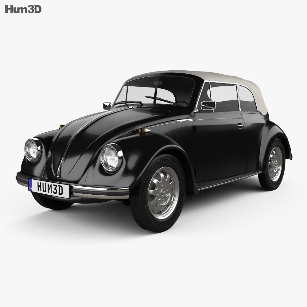 Volkswagen Beetle convertible 1975 3d model