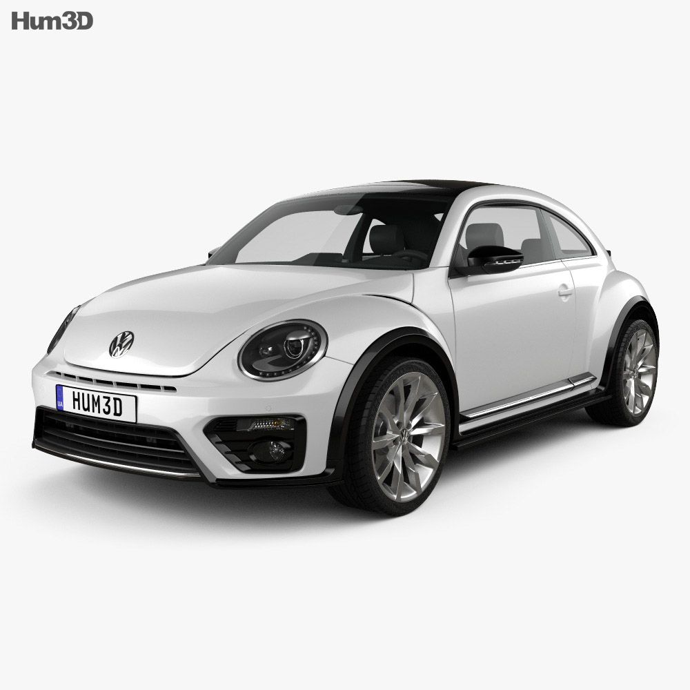 volkswagen beetle r line coupe 2016 3d model vehicles on. Black Bedroom Furniture Sets. Home Design Ideas