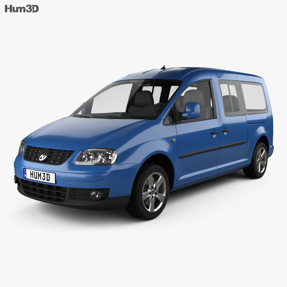 volkswagen caddy maxi 2004 3d model humster3d. Black Bedroom Furniture Sets. Home Design Ideas