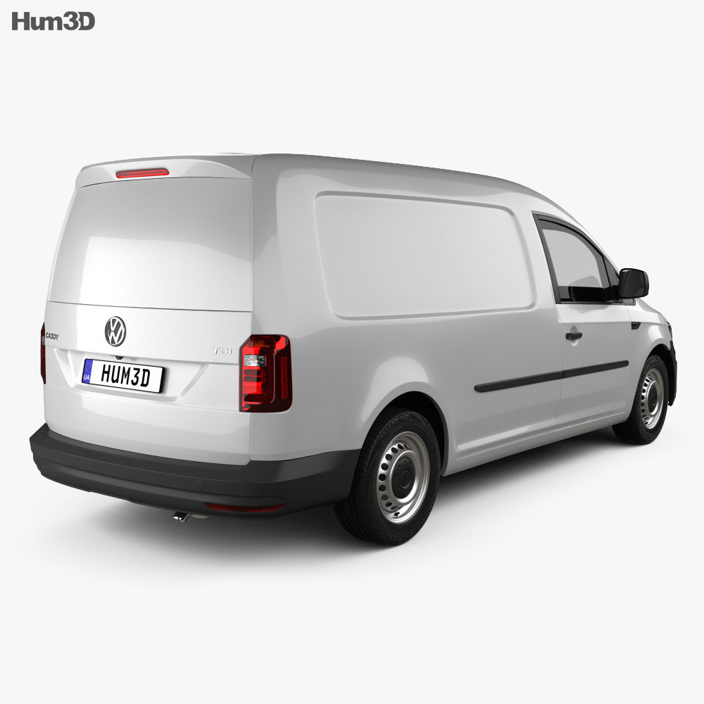 Volkswagen Caddy Maxi Panel Van 2015 3d model