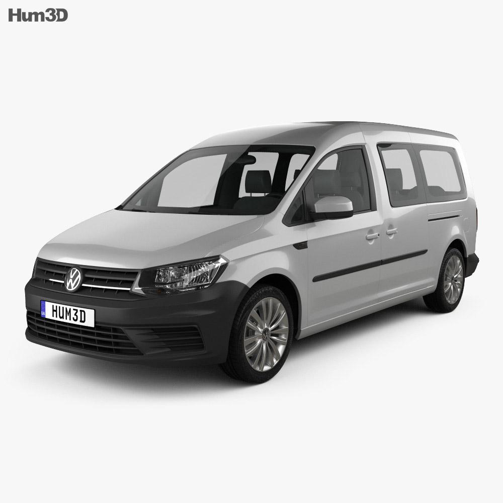 volkswagen caddy maxi trendline 2015 3d model hum3d. Black Bedroom Furniture Sets. Home Design Ideas