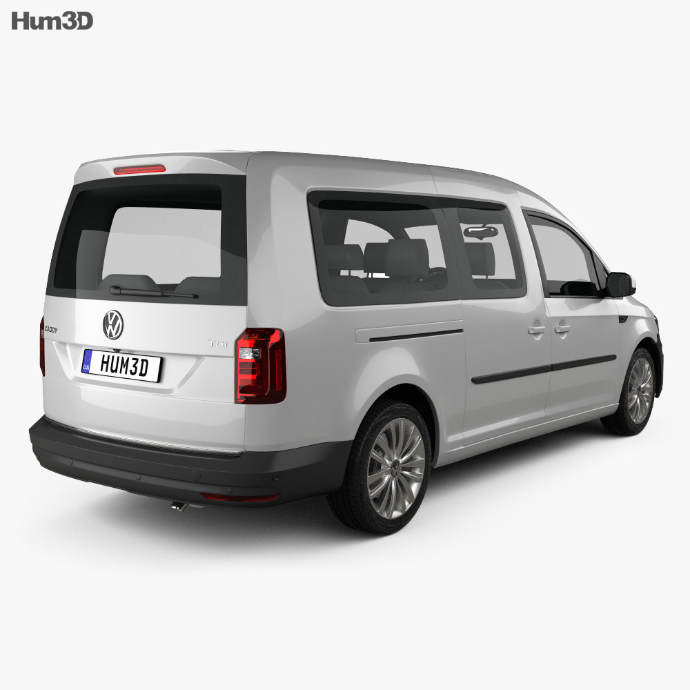 volkswagen caddy maxi trendline 2015 3d model humster3d. Black Bedroom Furniture Sets. Home Design Ideas