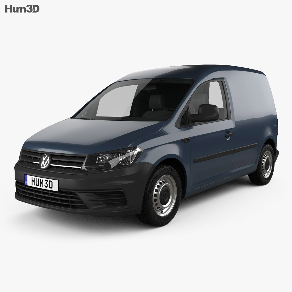 Volkswagen Caddy Panel Van 2015 3D model - Humster3D