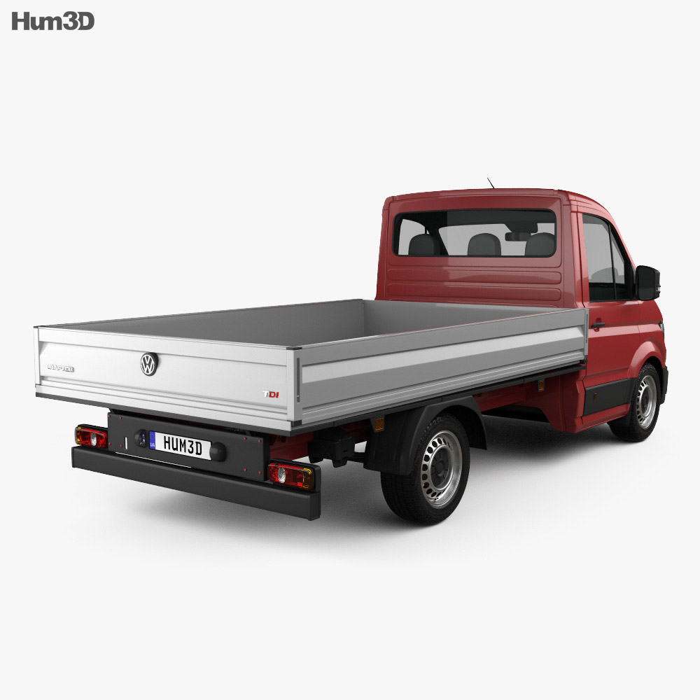 Volkswagen Crafter Single Cab Dropside 2017 3d model