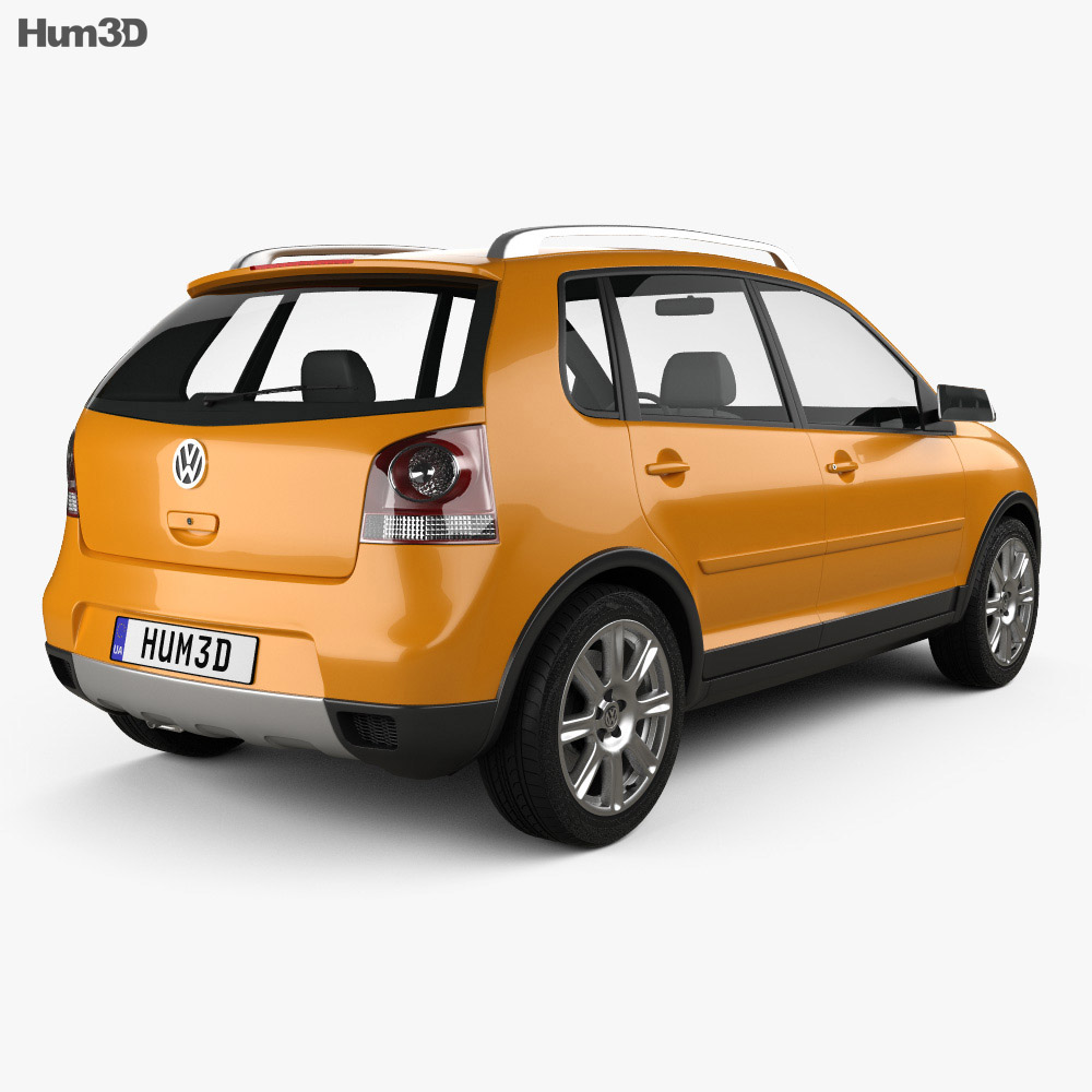 volkswagen cross polo 2006 3d model humster3d. Black Bedroom Furniture Sets. Home Design Ideas