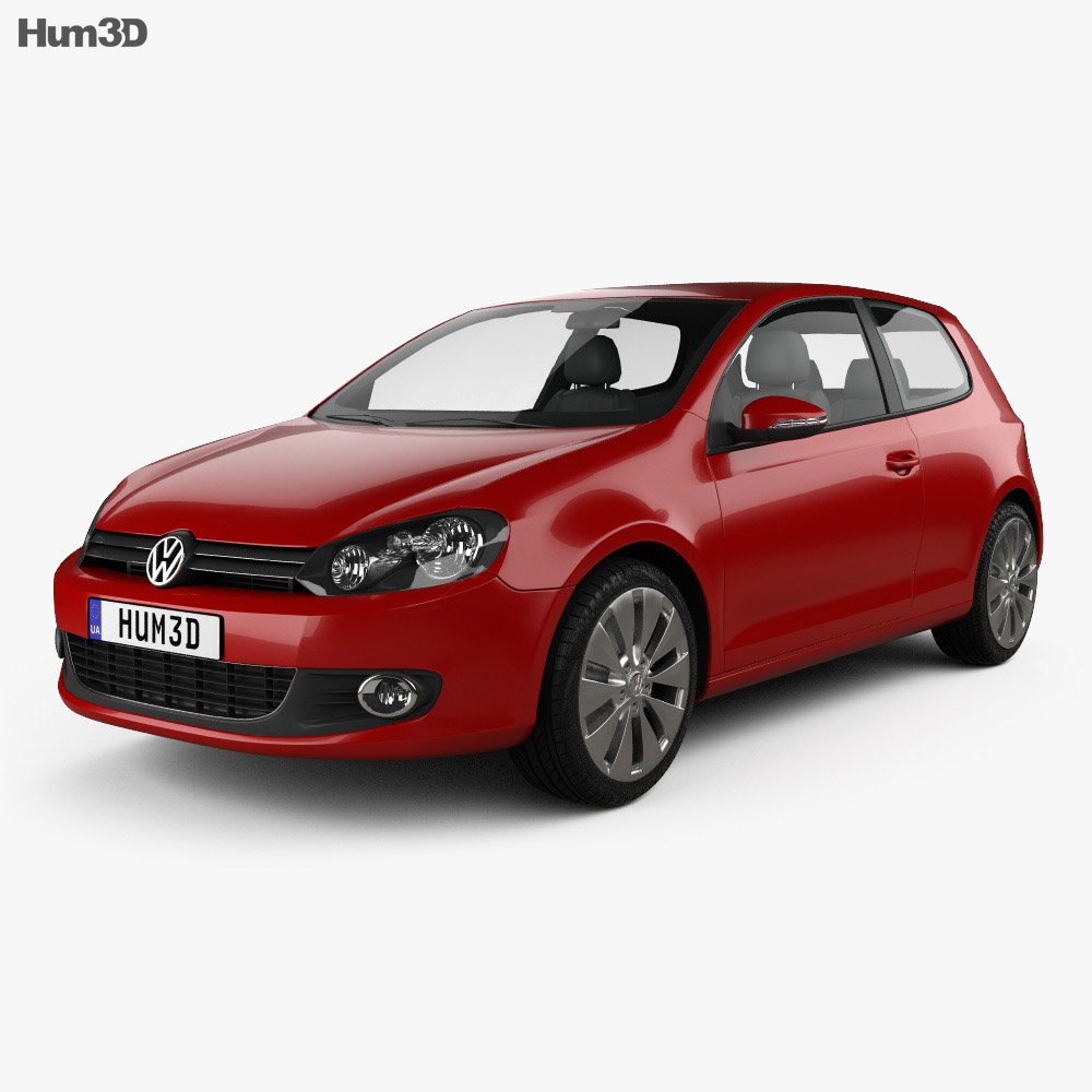 Volkswagen Golf 3-door 2009 3d model