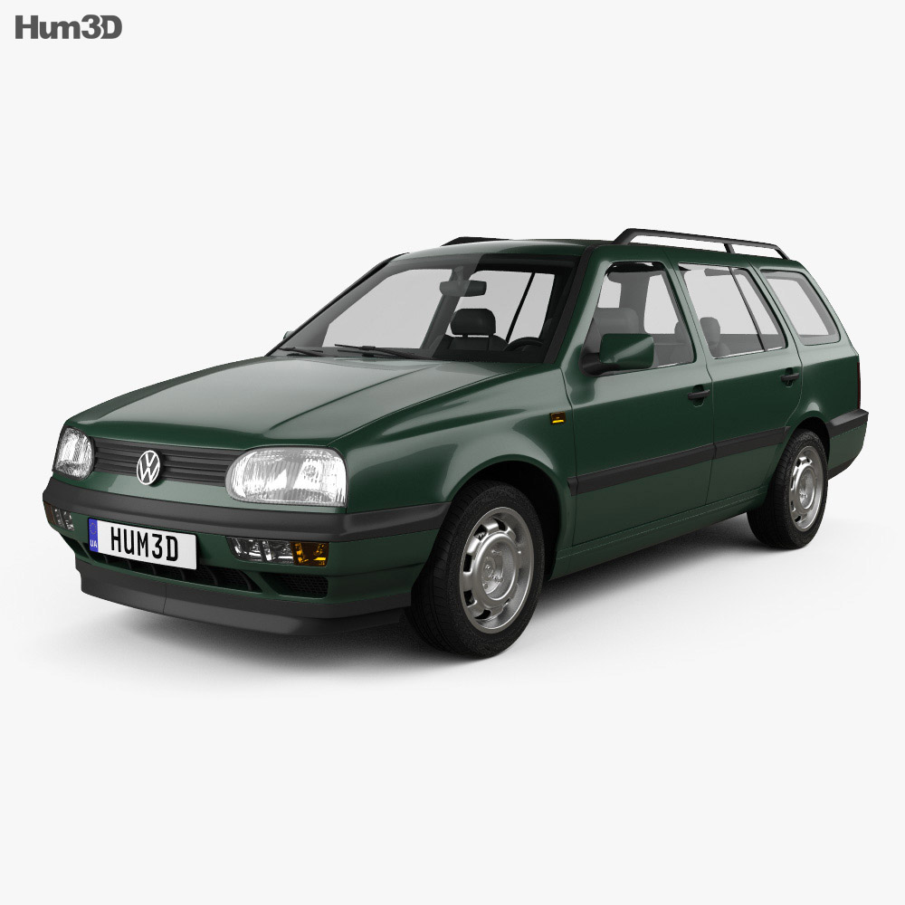 Volkswagen Golf Variant 1993 3d Model Hum3d