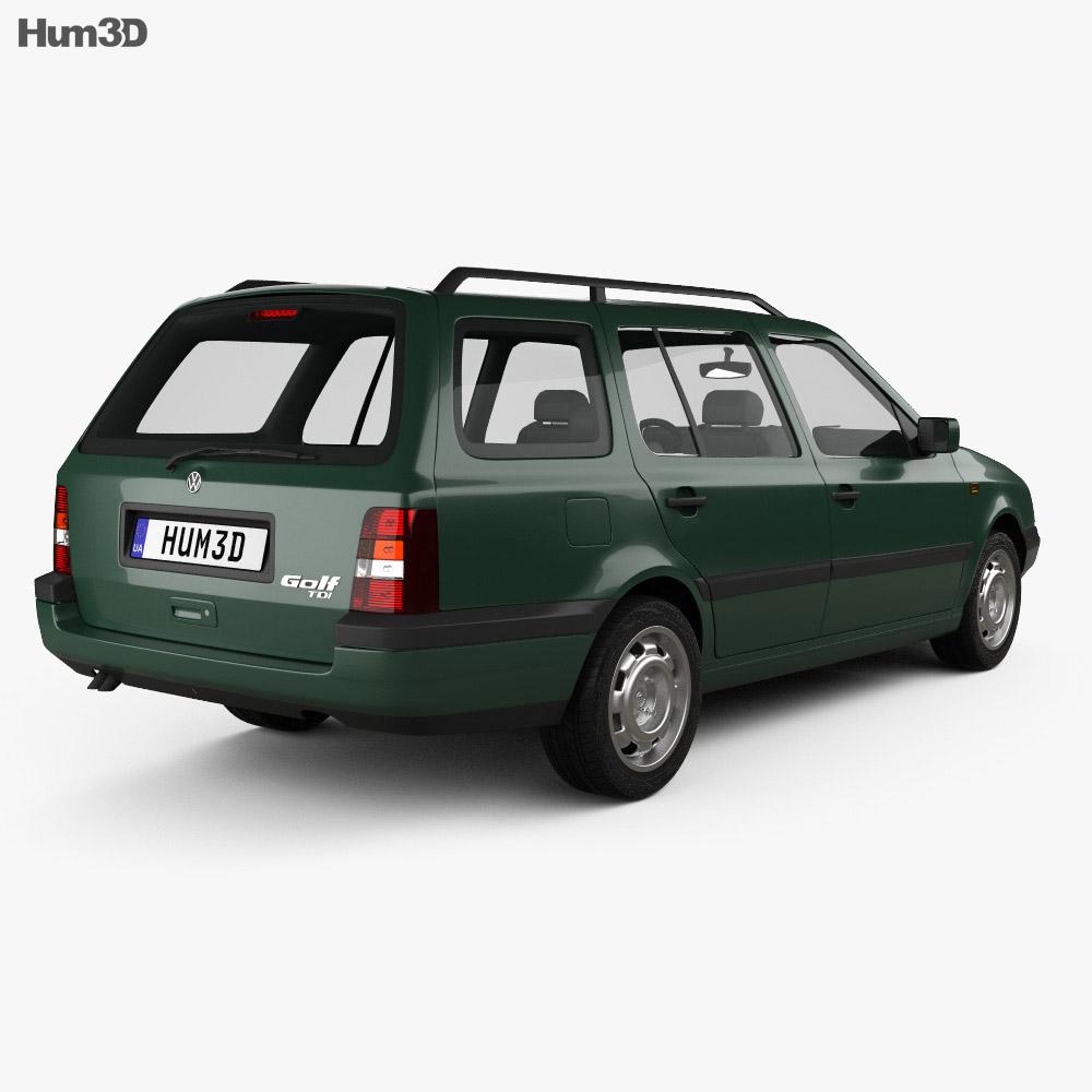 Volkswagen Golf Variant 1993 3d model