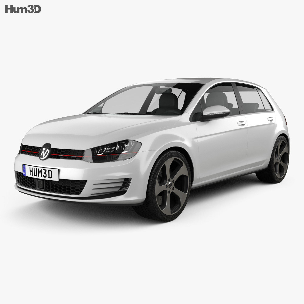 2019 Volkswagen Golf Gti 5 Door: Volkswagen Golf 5-door GTI 2014 3D Model