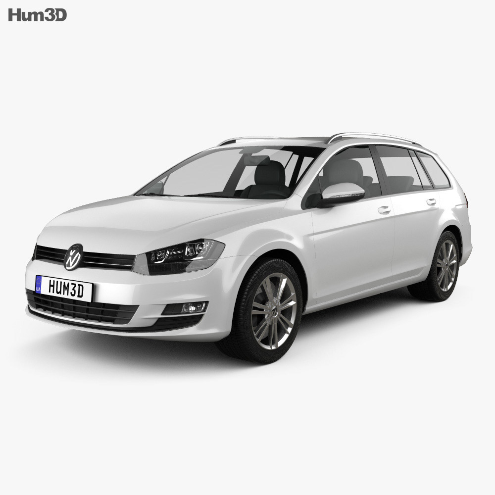 Volkswagen Golf Mk7 variant 2014 3d model