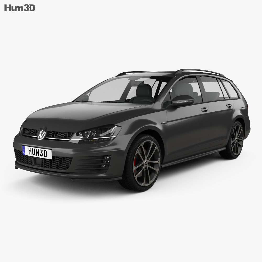 volkswagen golf gtd variant 2015 3d model hum3d. Black Bedroom Furniture Sets. Home Design Ideas