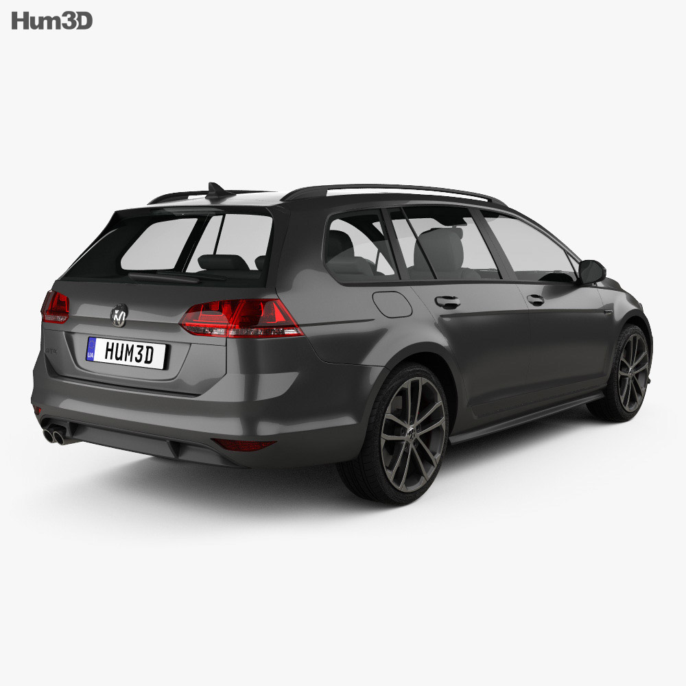Volkswagen Golf GTD Variant 2015 3d model